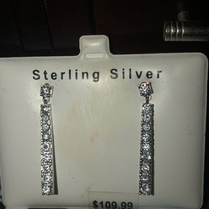 Dangle Earring .925 sterling silver and CZ